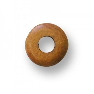 37mm Light Brown Donut Shaped Philippine Wood Component 12pcs