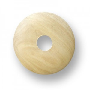 55mm Natural Donut Shaped Philippine Wood Component 6pcs