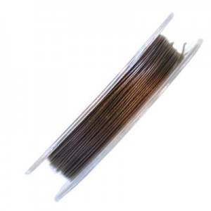 .015 Inch (0.38mm) Bronze 7 Strand Tiger Tail Wire 6 Spools of 32ft (10m)