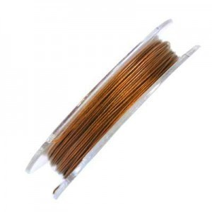 .015 Inch (0.38mm) Copper 7 Strand Tiger Tail Wire 6 Spools of 32ft (10m)