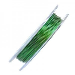 .015 Inch (0.38mm) Green 7 Strand Tiger Tail Wire 6 Spools of 32ft (10m)