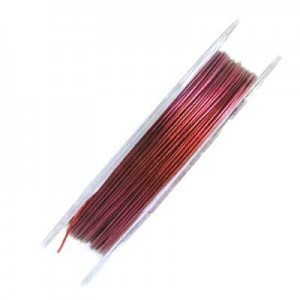 .015 Inch (0.38mm) Pink 7 Strand Tiger Tail Wire 6 Spools of 32ft (10m)