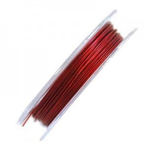 .015 Inch (0.38mm) Red 7 Strand Tiger Tail Wire 6 Spools of 32ft (10m)
