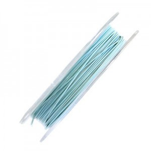 .015 Inch (0.38mm) Turquoise 7 Strand Tiger Tail Wire 6 Spools of 32ft (10m)