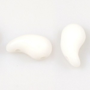 Zoliduo Bead 5x8mm Right Side White Alabaster (300pc)